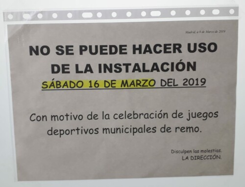 SABADO 16 de MARZO CERRADO EL LAGO