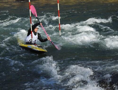 Los cadetes e infantiles en Slalom y Aguas tranquilas